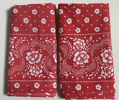 2 Vintage Tastemaker Standard Pillowcases Floral Bandana No Iron Percale 70s