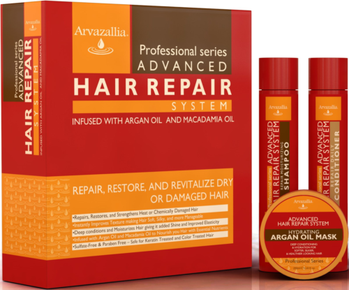 Advanced Hair Repair Shampoo and Conditioner Set with Argan