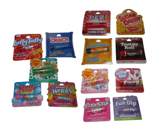 8 Pk Candy Flavored Lip Balm Assorted Flavors Chapstick Glos