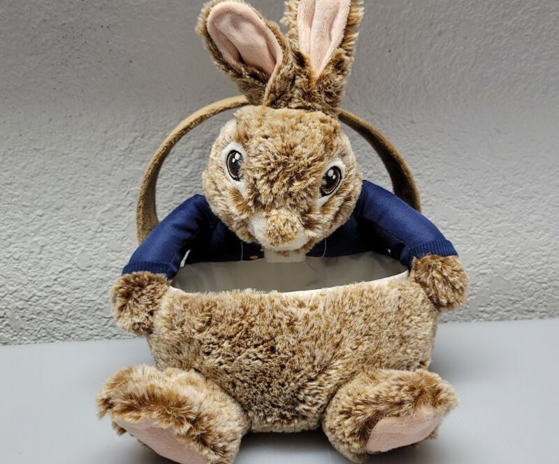 Dan Dee Peter Rabbit Easter Basket Bunny Soft Plush Tote Decor Egg Treats Bag 12