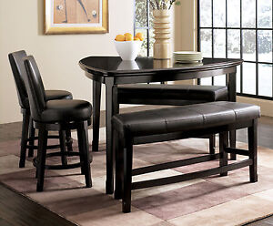 morgan 5pcs contemporary triangular counter height dining room table chairs set ebay. Black Bedroom Furniture Sets. Home Design Ideas