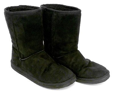CLOTHING - VALLEY SUEDE BOOTS, BLACK, SIZE 7 - #2522521 - VERY CLEAN