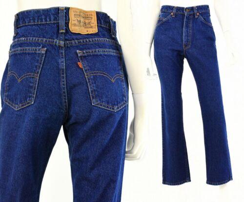 70s Vintage Levis 40509 0215 Dark Wash High Waist Straight Leg Jeans Womens 10