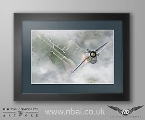 Framed English Electric Lightning F.6 Print, 11 Squadron, RAF Binbrook QRA.