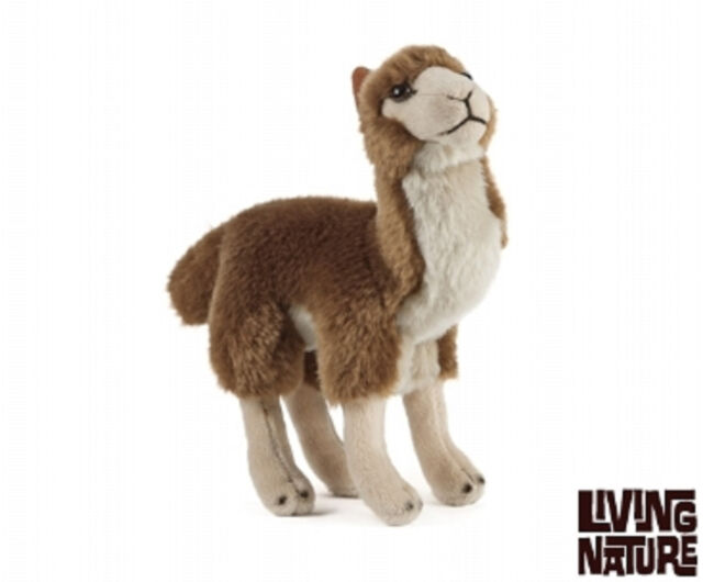 LIVING NATURE LLAMA PLUSH - STANDING CUDDLY FLUFFY CUTE TEDDY PLUSH TOY FOR KIDS