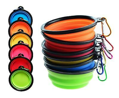 Tiger Mama Collapsible Dog Bowls, Set of 6, Silicone BPA Free Foldable Travel