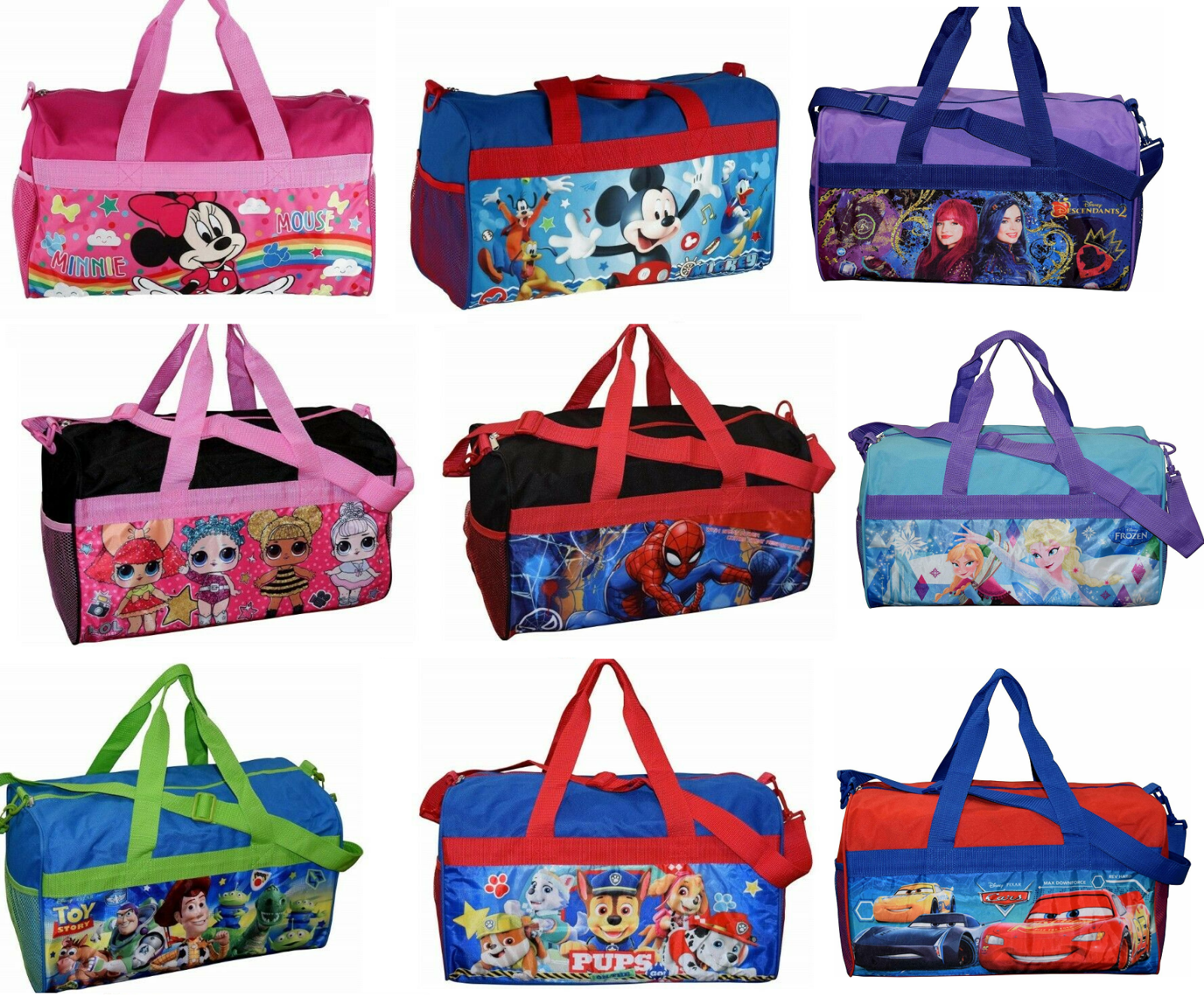 little kids duffel duffle bag sleep over