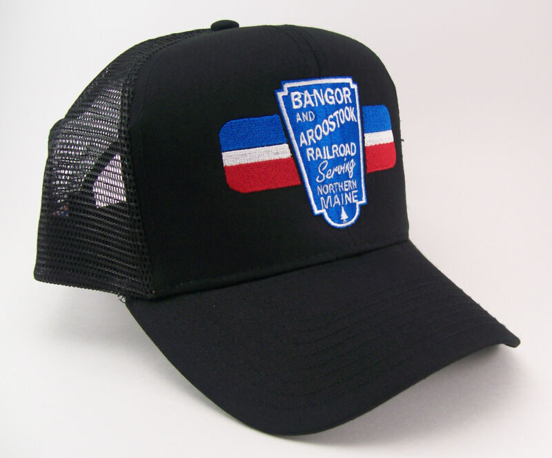 Bangor & Aroostook Embroidered Railroad Mesh Cap Hat #40-1107bm