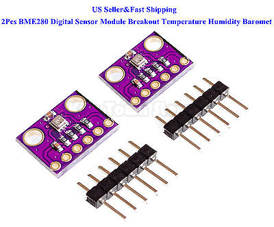 2Pcs BME280 Digital Sensor Module Breakout Temperature Humidity Baromet Pressure