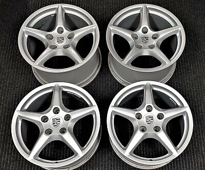 "4 Factory Porsche 997 Carrera 4 4S Turbo 18"" OEM Wheels 911 Rims"