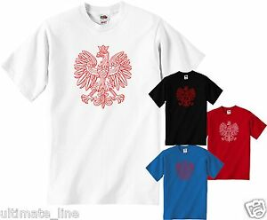 POLISH-EAGLE-T-SHIRT-TSHIRT-POLSKA-NATIONAL-EMBLEM-CUSTOM-COLOUR-NAME-OPTION