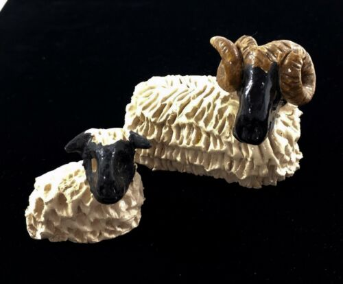 Scottish Coll Pottery Isle of Lewis Scotland Lamb Sheep Animal Decor Vtg Gift
