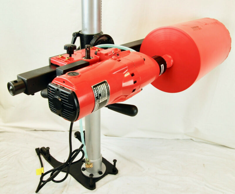"BLUEROCK 10"" Z1 TEL Telescoping Stand Concrete Core Drill  ANY ANGLE DRILLING"