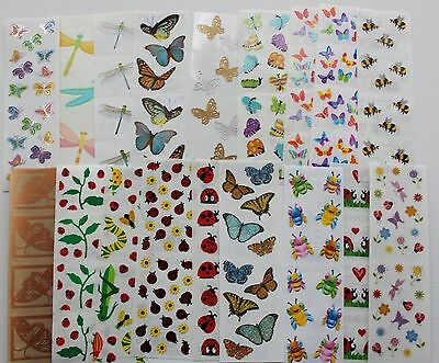 Ladybug Stickers (Mrs. Grossman sticker sheet You Choose - Butterfly Bees Bugs Ladybug)