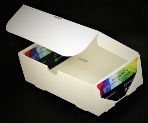 500 count White Business Card Boxes quantity 500