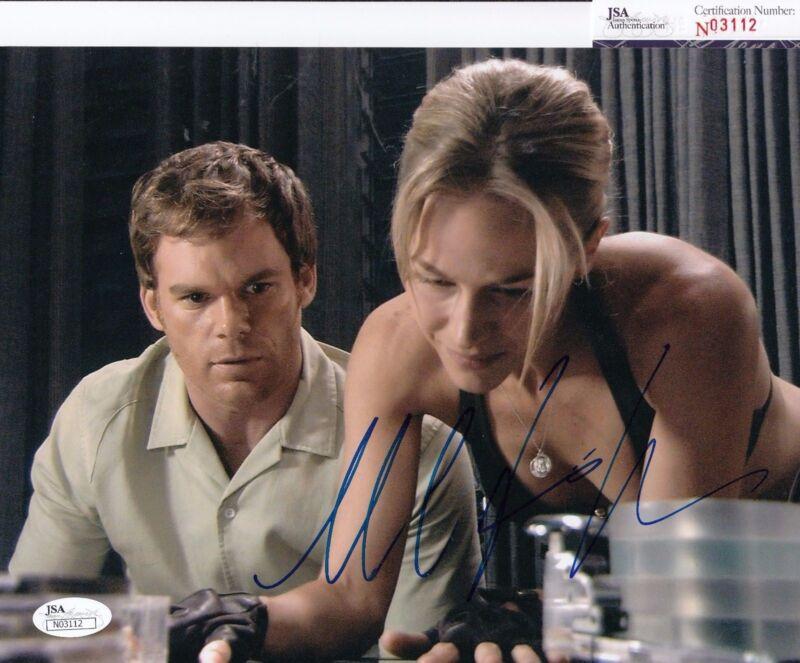 Michael C Hall autographed Dexter Morgan 8x10 Photo JSA Authentic Coa N03112