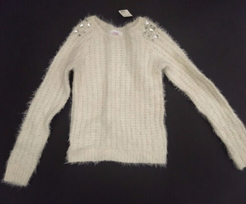 Girls Justice Ivory Sweater Size 10 NWT