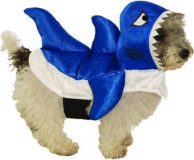 Blue Baby Shark Pet Costume Petwear Dog Cat Halloween Sharknado Small Medium - Halloween Costumes Shark