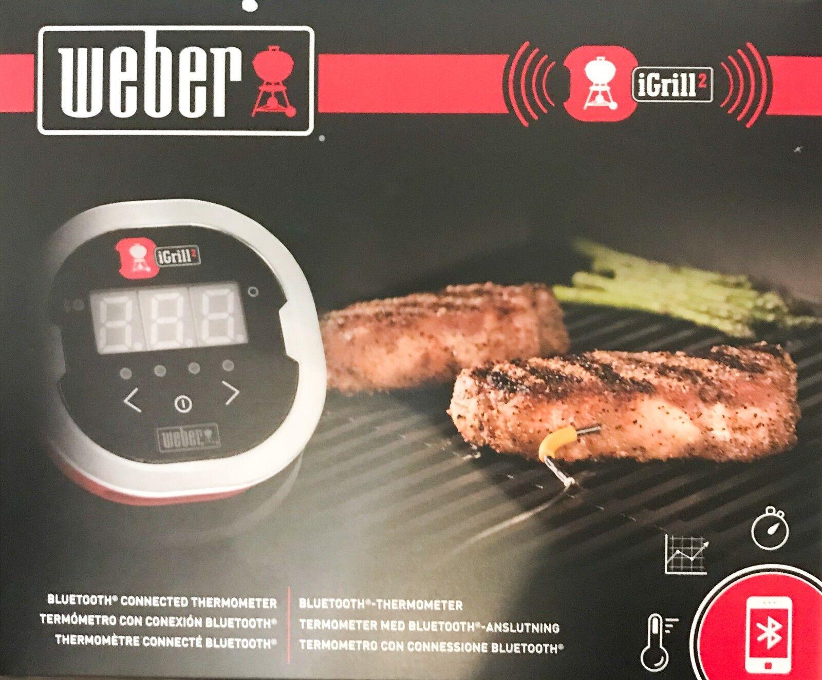 Weber iGrill 2 Grillthermometer 7221 für Smartphones mit 2 Messfühlern