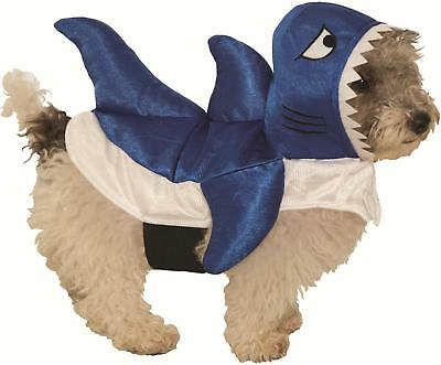 Pet Shark Costume (Blue Shark Pet Fish Dog Costume Size)