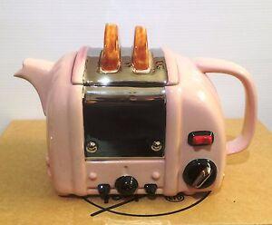 pink retro toaster teapot by swineside aka teapottery   xmas special