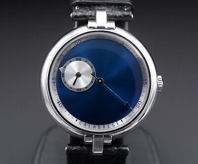 Rare Vincent Calabrese Horus Stainless 36mm Wandering Hour Watch 867 CO502