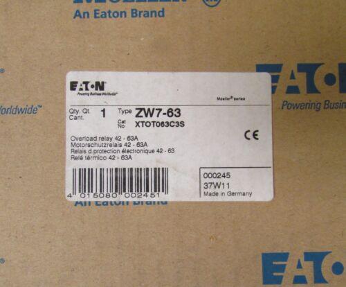 EATON MOELLER ZW7-63 XTOT063C3S 42-63 Amp Overload Relay