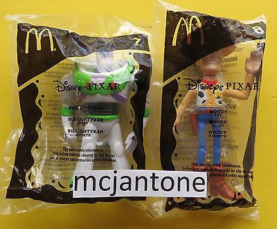 MIP LOT McDonald's Disney 2005 Pixar Pals TOY STORY Buzz Lightyear Woody 2 Toys
