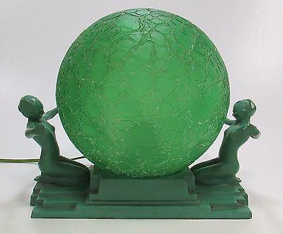 Original Art Deco FRANKART Model #L230 Nude Table Lamp ca 1920's-30's Very Nice!