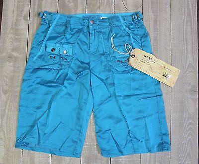 NEW Da-Nang Silk Blend Cargo Bermuda Shorts Bluebird Size X-SMALL CHA5076 for sale  Los Angeles