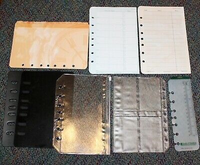 Classic Desk Planner Accessory 7-hole Tab Address Protectors Sleeves Lot 11