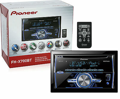Pioneer FH-X700BT Car CD Player Double Din Built in Bluetooth New FHX700BT on Rummage