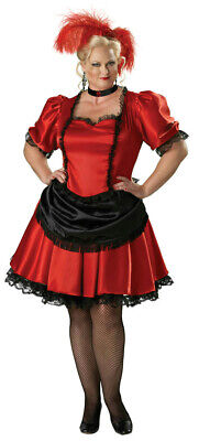InCharacter Premier Red Black Saloon Gal Western Plus Size Adult Costume Size 2X](Premier Halloween Costumes)
