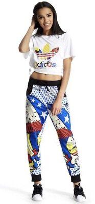 New Adidas X Rita Ora Super Track Pants Xs Mesh Jogger Wonder Woman Superman