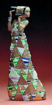 """GUSTAV KLIMT Skulptur - """"Die Erwartung"""" - prachtvolle Figur der Museums Edition"""