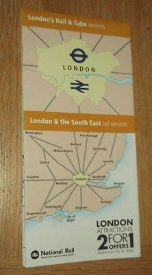 London & SE Rail & Tube Services fold out map - May 2018 edition LATEST EDITION