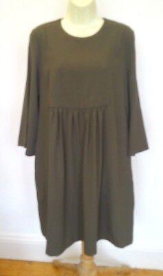 Jucca Khaki Green Open Back, Pocketed Tunic Dress Size 44, UK 12