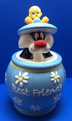 "New Looney Tunes ""Tweety and Sylvester Best Friends"" Cookie Jar/Westland-No Box"