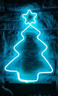 Christmas Navidad Árbol Led Neón Azul decoración Interior Exterior Luces navidad