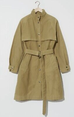 MHL MARGARET HOWELL MINERS COAT WASHED WAXED COTTON FADED OLIVE SIZE XS-S NEW