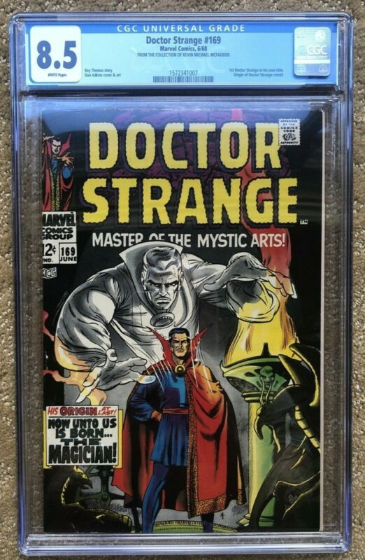 Doctor Strange #169 (Jun 1968, Marvel) CGC 8.5 UNIQUE SEE LABEL. WHITE PAGES