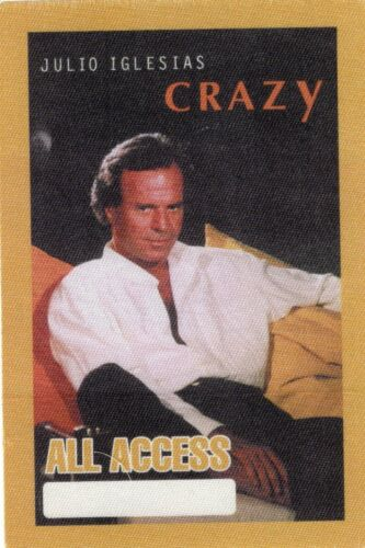 Julio Iglesias Concert tour ALL ACCESS pass - CRAZY tour