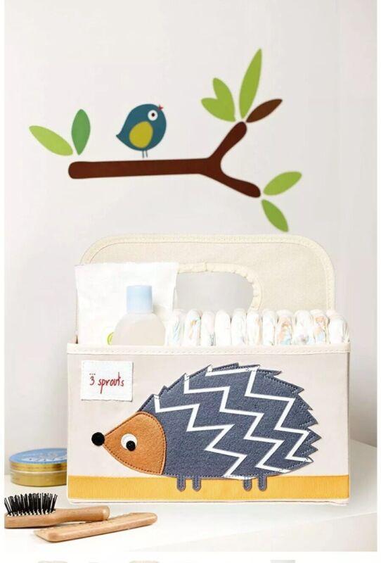 3 Sprouts Baby Diaper Caddy Organizer Basket Hedgehog For Nursery