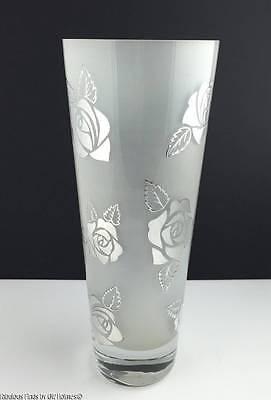 Usado, EGIZIA Silver Overlay Frosted Italian Art Glass Tall Vase segunda mano  Embacar hacia Argentina