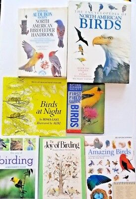 Encyclopedia North American Birds Joy of Birding Field Guide Birdfeeder Book Lot