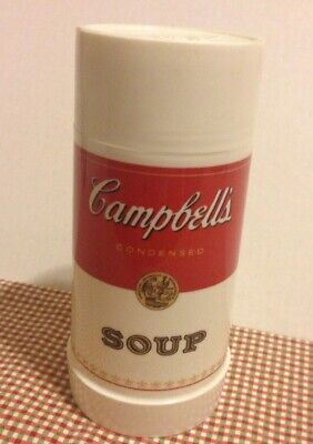 Campbell's Soup Thermos 10 Ounce Aladdin Wide Mouth with Stopper and Cup 10 Ounce Soup Cup