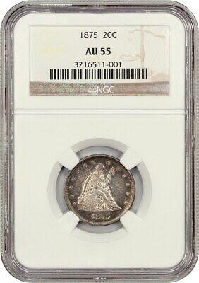 1875 20c NGC AU55 - 20-Cent Piece - Better Date