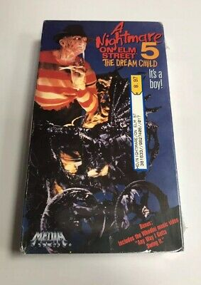 *NEW* VHS A Nightmare On Elm Street Part 5 The Dream Child (1989) Vintage