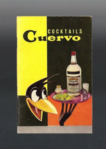 1960 Vintage Collectible JOSE CUERVO BLACK CROW HTF Cocktail Recipe Booklet