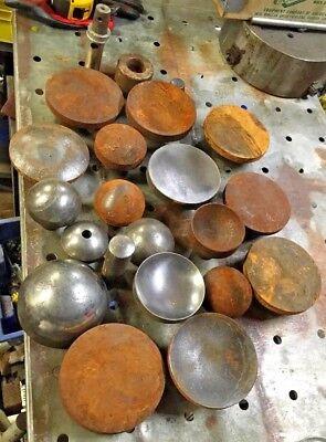 Metal Forming Dies Misc Lot From Blacksmith Estate Planishing Hammer Bench Anvil
